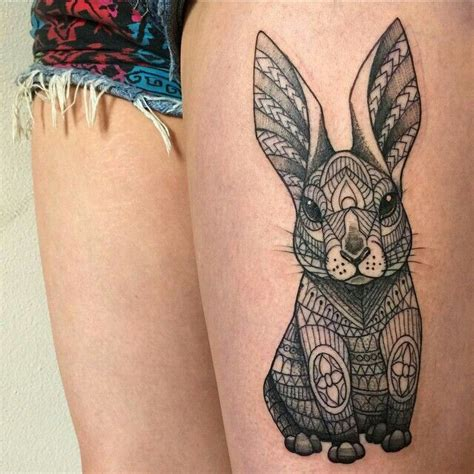 rabbit tattoo 25 best ideas about bunny tattoos on white