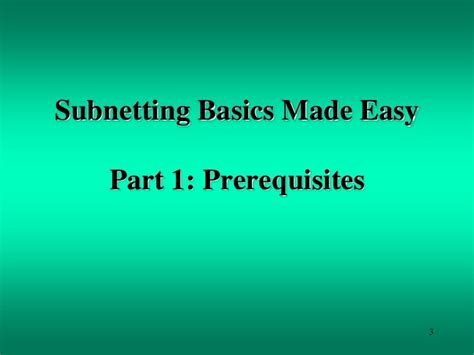 subnetting tutorial subnetting made easy subnetting basics tutorial