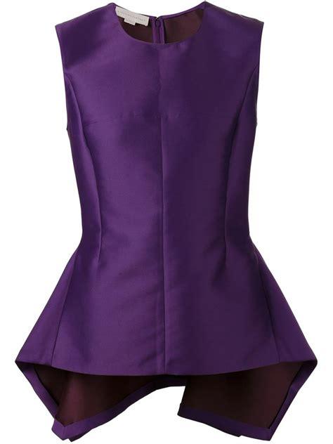 Purple Top 1 stella mccartney peplum top in purple lyst