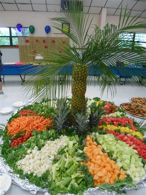 palm tree made of fruit fruit vegetable pineapple palm tree decorative fruit and