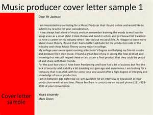 Audio Producer Cover Letter by Producer Cover Letter