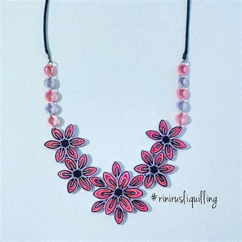 Handmade Quilling Paper - paper quilling necklace rinirusliquilling necklace