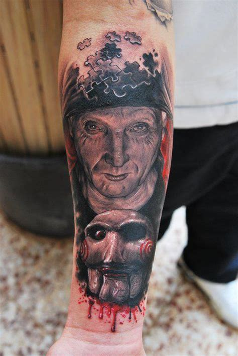 tattoo ideas jigsaw amazing jigsaw tattoo on left forearm