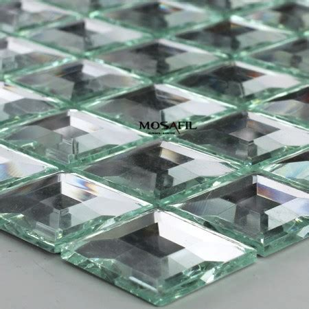 fliese 30x30 glass mosaic tiles silver 3d mirror 30x30x5mm ebay