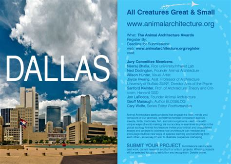 animal architecture awards announced the expanded environment animal architecture goes to dallas the expanded environment