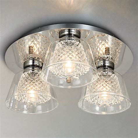 crystal bathroom ceiling light buy illuminati horatio cut crystal bathroom flush light 3