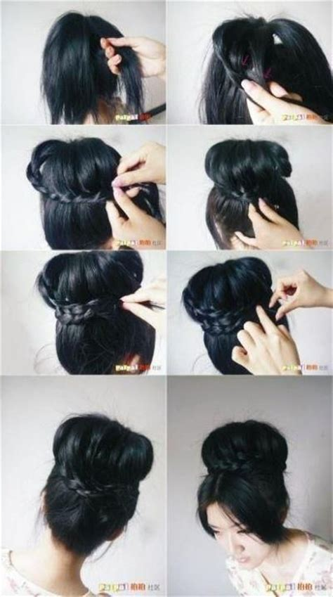 cornrows with doughnut wivon at top 792 best images about hair tutorials on pinterest