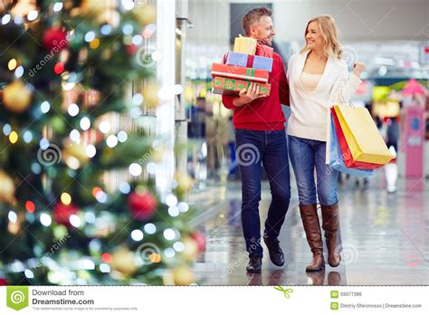 buying christmas gifts stock photo image of christmas