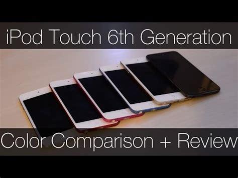 ipod touch  generation color comparison  review