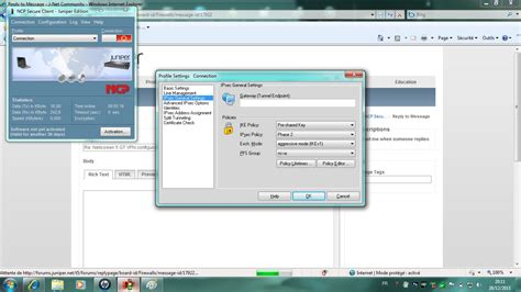 juniper client solved netscreen 5 gt vpn configuration with ncp secure c