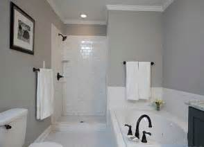 subway tile shower basement