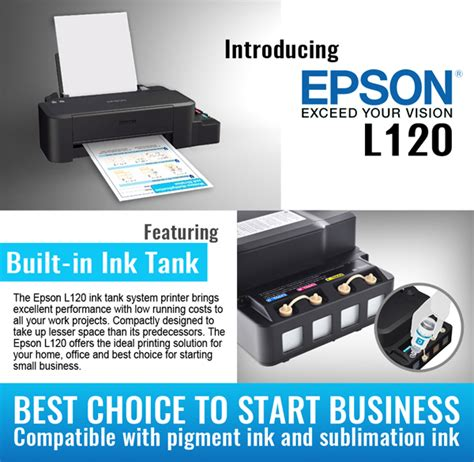 Printer Epson L120 Denpasar epson l120 in the philippines 3d sublimation machine supplier philippines diy printing