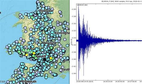 earthquake uk earthquake in uk three aftershocks strike today after