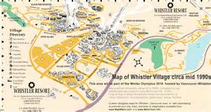 map of whistler resort bc part of vancouver whistler