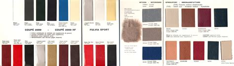 100 glasurit paint color chart fulvia sport and flavia 2000 colors c 1970 lanciainfo