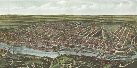 philadelphia panoramic 1907 wall map mural