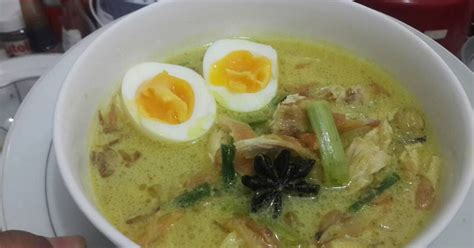 resep soto ayam kuah santan enak  sederhana cookpad
