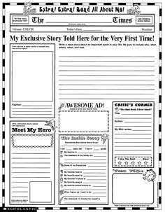 1000 Images About Newspaper On Pinterest 6th Grade English Current Events And Articles Student Newspaper Template