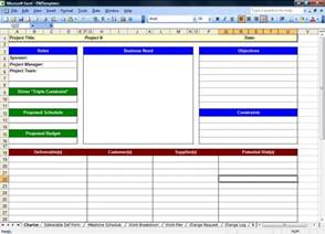 project 2007 templates excel spreadsheets help free project management