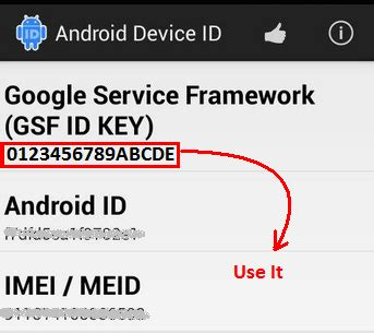android gsf id how to android app directly from chrome