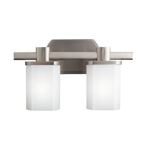 Kichler Vanity Light by Shop Kichler Lege 2 Light 9 In Brushed Nickel Rectangle