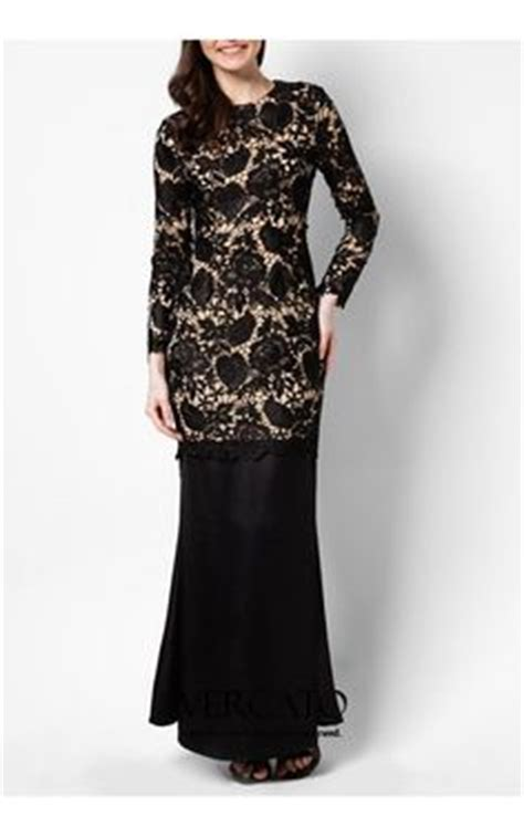 New Ayako Fashion Dress Muslim Maxi Safirah Hitam Hgb lace top maxi dress kebaya baju kurung maxikjolar spets och kl 228 nningar