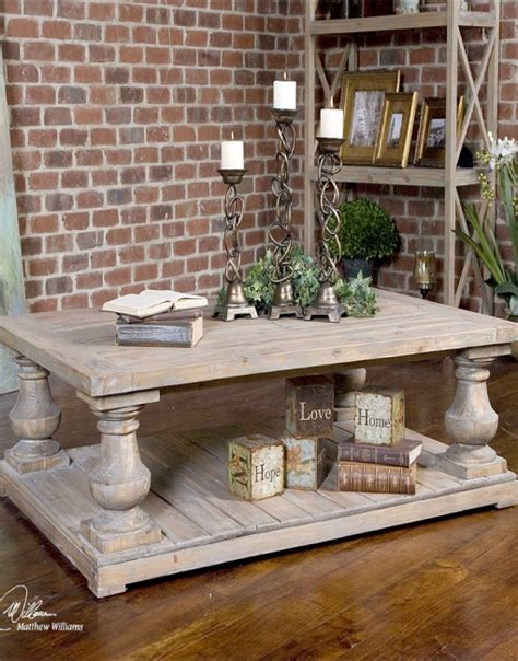 uttermost stratford rustic cocktail table arte fina