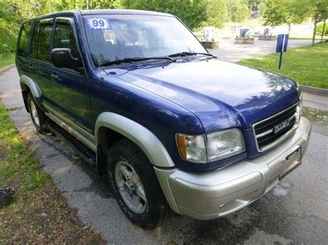 auto air conditioning service 1999 isuzu trooper interior lighting sell used 1999 isuzu trooper only 87 000 low miles very pretty blue 4x4 no reserve in avon