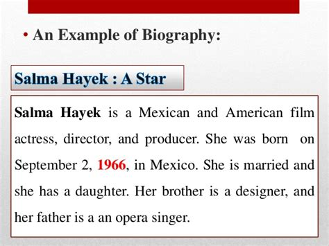 biography paragraph parts of a paragraph review