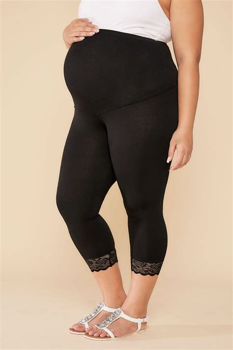 Po Address Finder Bump It Up Maternity Black Comfort Cotton Elastane Cropped Plus Size 16 To 28