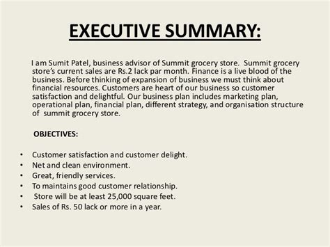 grocery store business plan template 6 popular sles