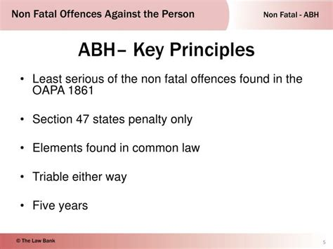 section 47 oapa ppt non fatal offences against the person powerpoint