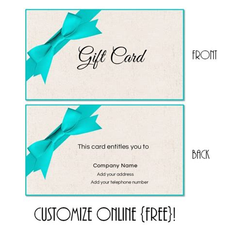 gift card template printable gift card template