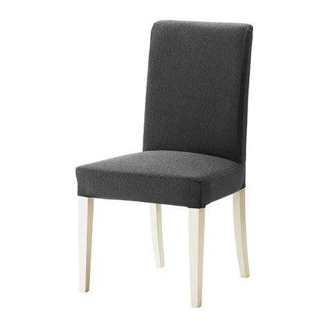henriksdal chaise dansbo gris fonc 233 blanc ikea