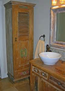 Teak Bathroom Cabinet Reclaimed Teak Linen Cabinet Vanity Style