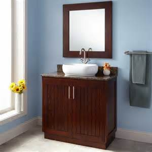 bathroom brown polished wooden narrow depth bathroom