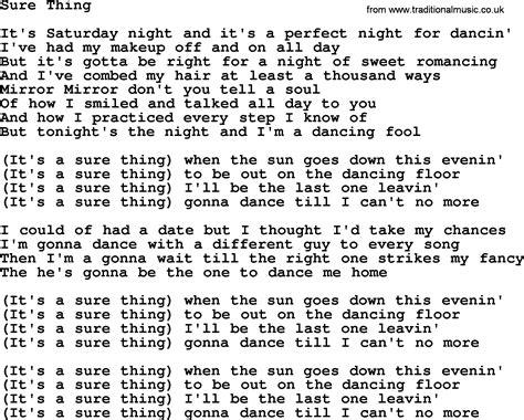 sure thing download dolly parton song sure thing lyrics