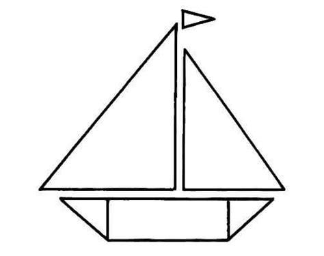 boat shapes craft boat shapes coloring page 171 preschool and homeschool