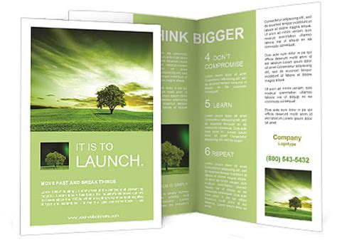 green landscape brochure template design id 0000009265
