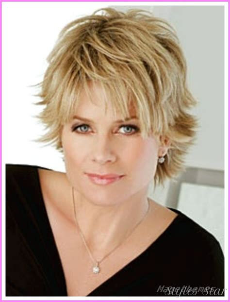Layered Hair Styles For Round Face Over 50 | short haircuts for women with round faces over