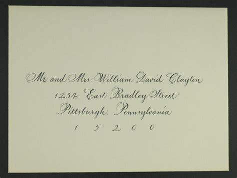wedding invitation cards markham custom calligraphy on addressed wedding