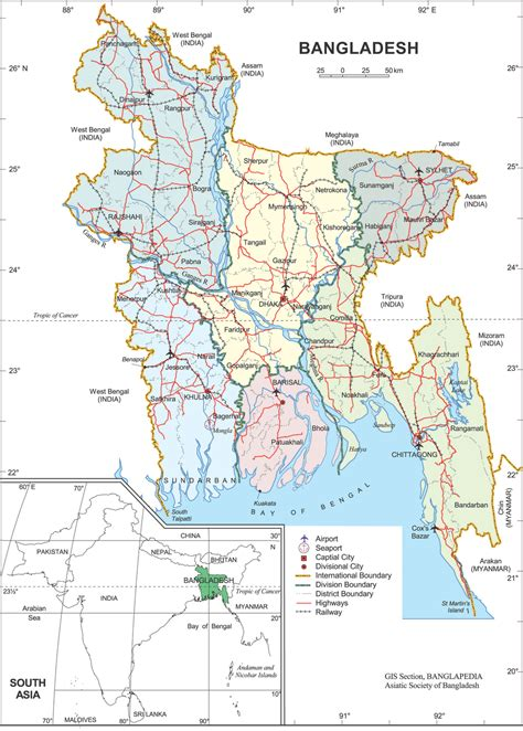 map of bangladesh all bangladesh map