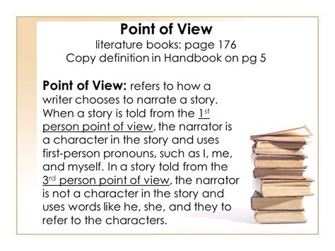 what is the point of a book with no pictures in my world books would be nothing but pictures unit 2 page 4 handbook point of view and characterization ppt video online download
