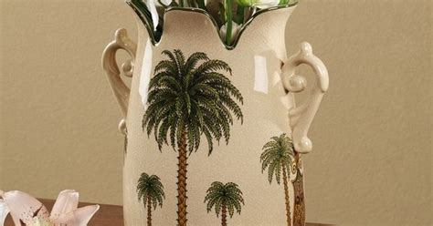 palm tree decorative ceramic table vase palm tree shower