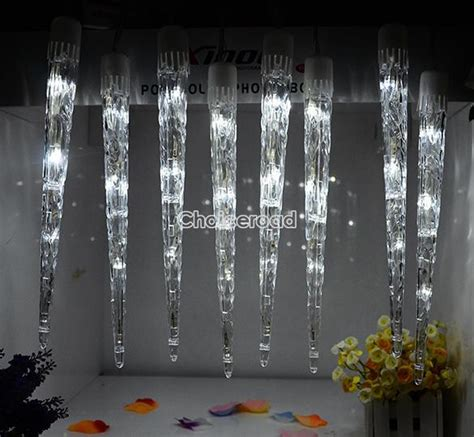 led dripping icicle christmas lights led icicle light tube dripping indoor outdoor christmas