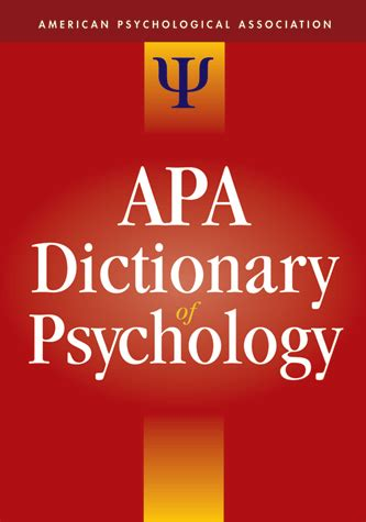 the dictionary of psychology books apa dictionary of psychology
