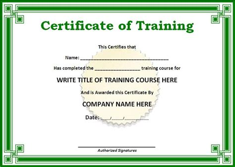design a certificate in word training certificate templates for word on the