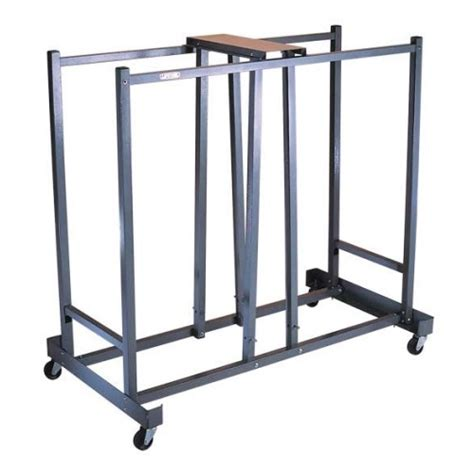 Folding Table With Storage New Lifetime 6525 Folding Chair Wheel Storage Rack Cart