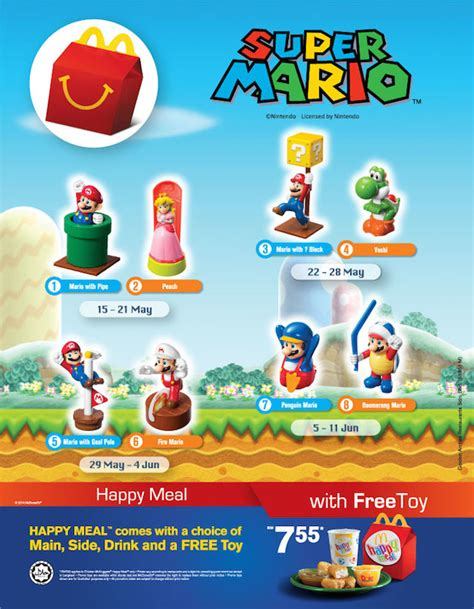 Adventure Time Mcdonald Happy Meal Meals Mcd Mcdonalds Minion malaysia gets mario mcdonald s happy meal toys is
