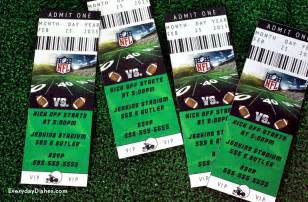 football ticket template football ticket invitations family crafts
